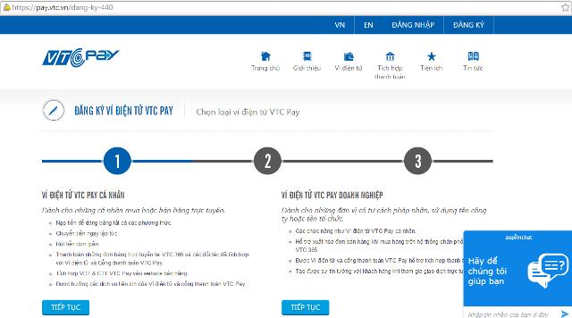 Tuy nhiên, cũng không ít khách hàng giật mình sau khi nhấn đăng ký, và được VTC  365 đưa đến một trang lạ hoắc: vtcpay.vn.
