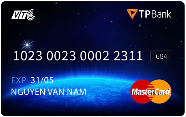 thẻ TP Bank -Mastercard