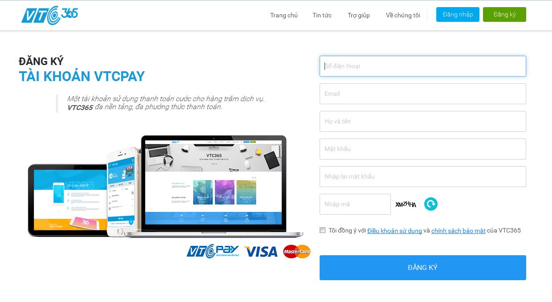 Bước 3: Xác minh Ví điện tử VTC Pay