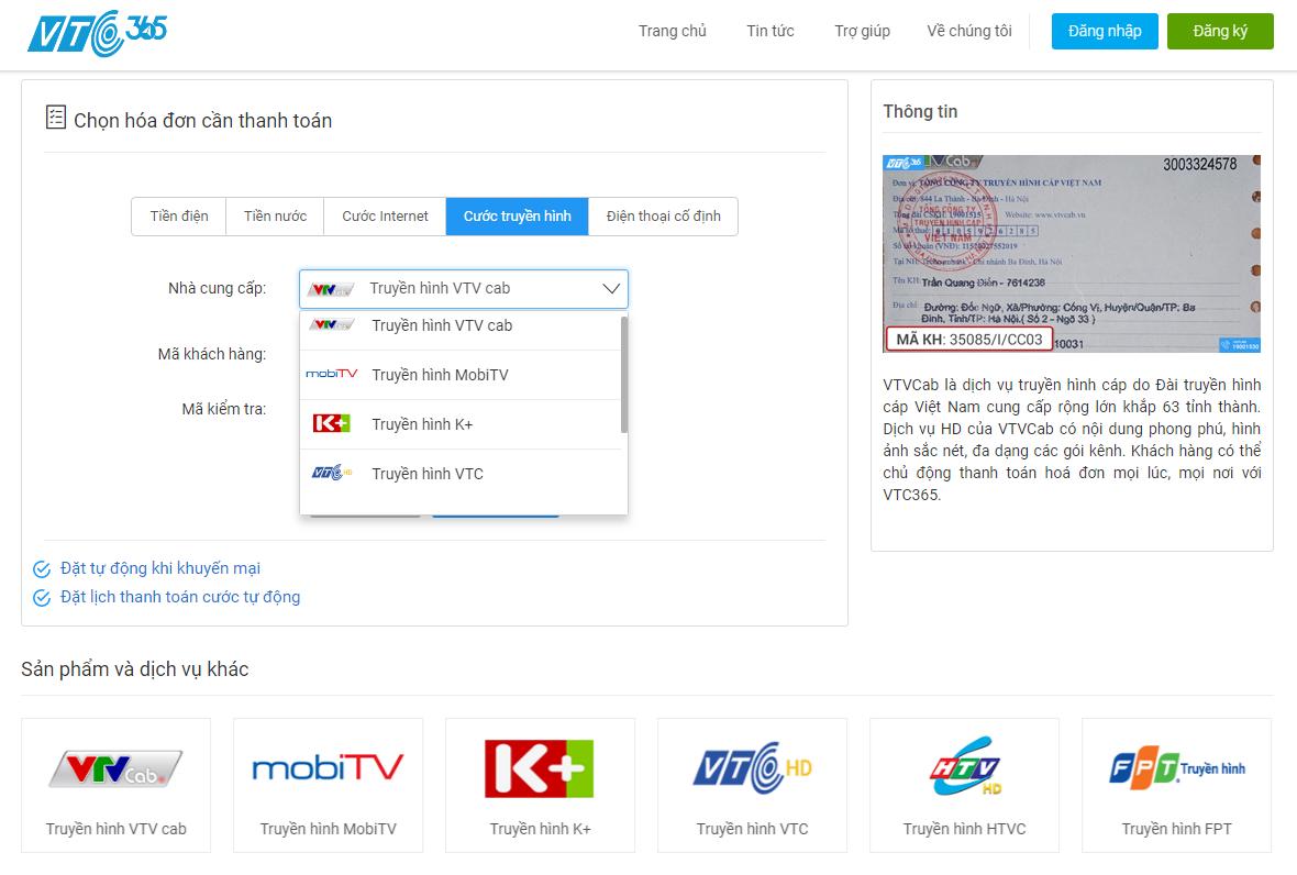 Chỉ cần truy cập website 365.vtcpay.vn hoặc app VTC Pay bạn có thể thanh  toán hóa đơn theo nhiều cách khác nhau.