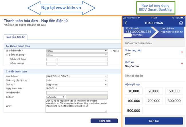 Nếu có tài khoản ngân hàng Vietcombank - Nạp Vcoin qua dịch vụ  VCB-iB@nking. Điều kiện sử dụng: - Là khách hàng cá nhân có tài khoản tiền  gửi thanh toán ...