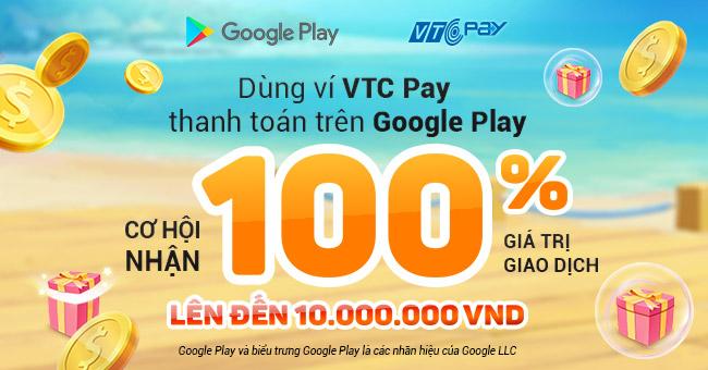thanh toán trên Google Play bằng Ví VTC Pay