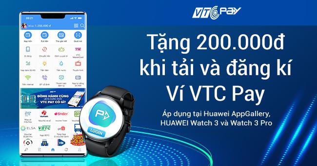 VTC Pay tặng voucher 200k Huawei