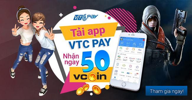 """Nội dung sự kiện """"Tải app VTC Pay - Nhận ngay 50 Vcoin"""":"""
