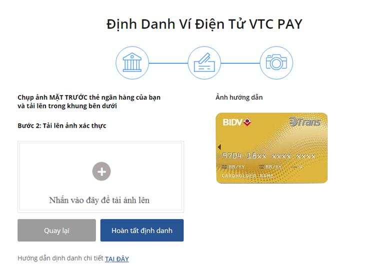 Hướng dẫn định danh ví VTC Pay