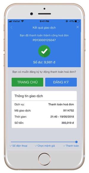 Hướng dẫn thanh toán hóa đơn tiền điện qua VTC365