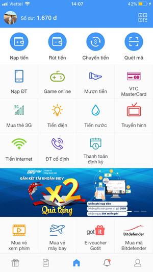 App VTC Pay phiên bản mới: Chạm là thích - Dùng là mê 1