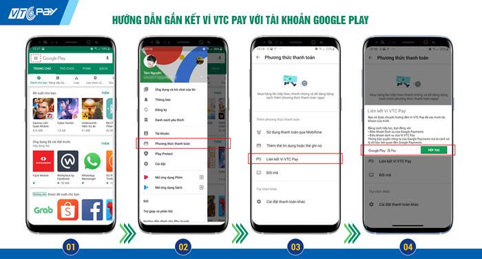 Hướng dẫn gắn kết Google Play với Ví VTC Pay