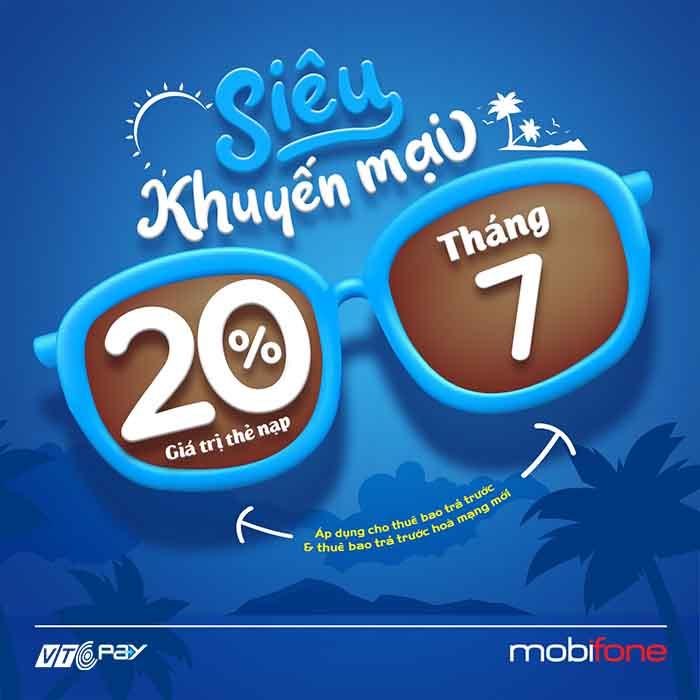nạp tiền điện thoại Ví VTC Pay mobifone khuyến mãi 22-7-2020