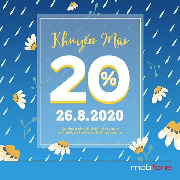nạp tiền điện thoại Ví VTC Pay mobifone khuyến mãi 26-8-2020