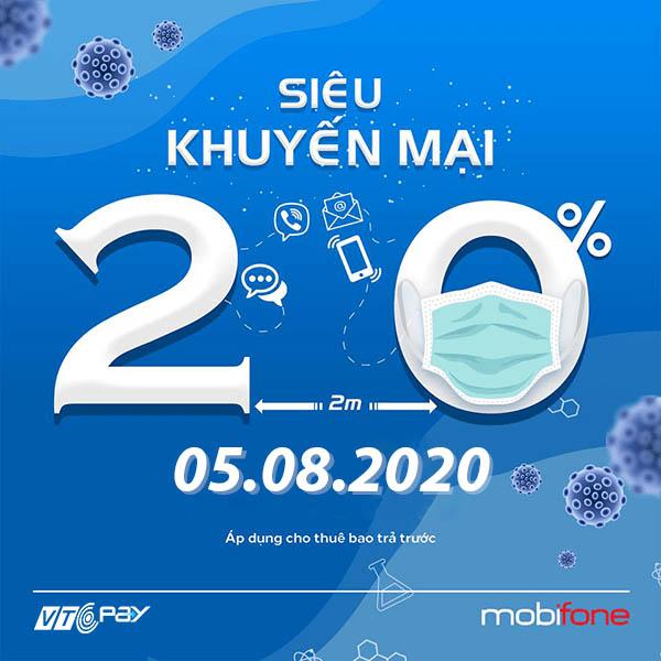 nạp tiền điện thoại Ví VTC Pay mobifone khuyến mãi 5-8-2020