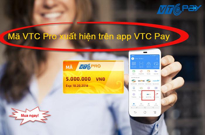 Mã VTC Pro là một sản phẩm hoàn toàn khác biệt của VTC Pay, được tạo trên  website https://365.vtcpay.vn, và mới đây là trên app VTC Pay, không những  giúp ...