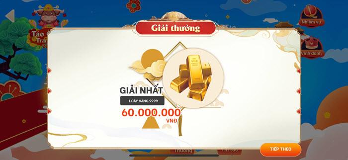 Giải thưởng sự kiện Táo Quân Tranh Tài Ví VTC Pay 8