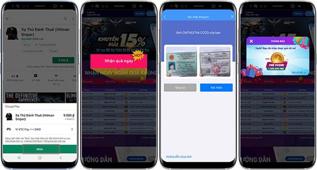 Thanh toán Google Play với Ví VTC Pay nhận quà - giảm giá 50%
