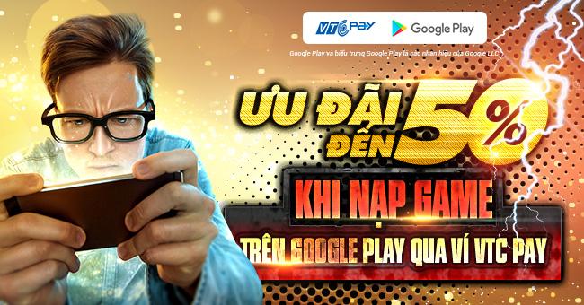 nạp game trên google play vtc pay