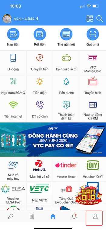 liên kết ví VTC Pay