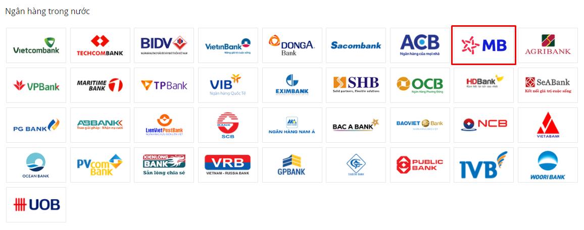 liên kết ví VTC Pay với ngân hàng MBBank