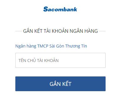 liên kết ví VTC Pay với thẻ Sacombank