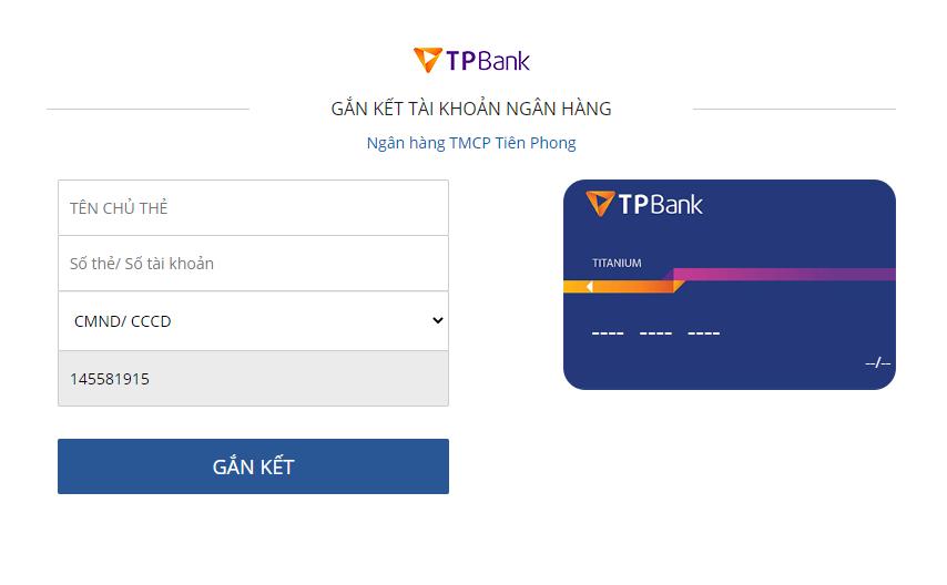 liên kết ví VTC Pay với ngân hàng TPBank
