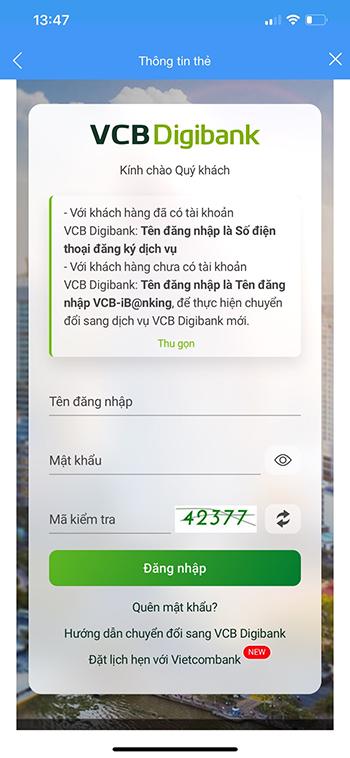 liên kết ví VTC Pay với ngân hàng Vietcombank