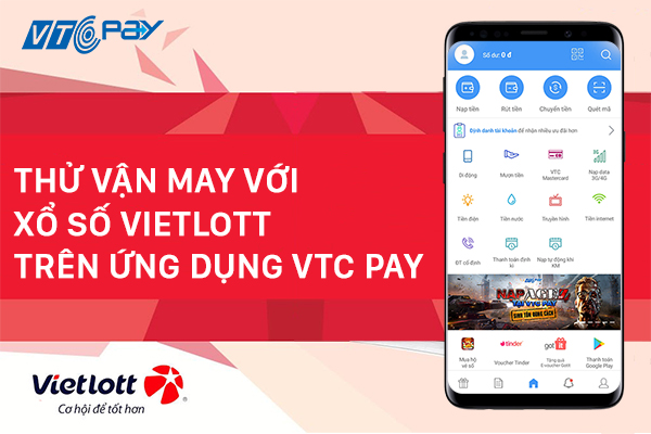 xổ số vietlott trên ứng dụng vtc pay